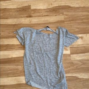 Gray back out tee